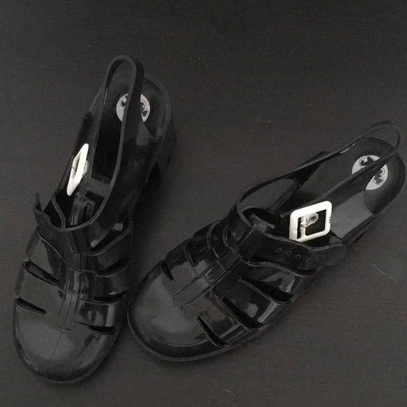 "1f13d237604 JuJu Shoes - JuJu Black ""BABE"" Jelly Shoe"